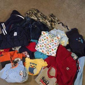 17 piece baby boy lot 6-9 mos